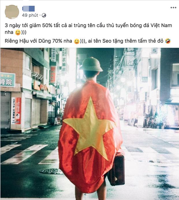 Hàng quán đua nhau giảm giá ăn mừng đội tuyển bóng đá Việt Nam giành huy chương vàng SEA Games - Ảnh 1.