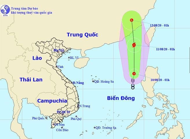 Áp thấp nhiệt đới có khả năng mạnh lên thành bão số 3 gây mưa dông, gió giật - Ảnh 1.