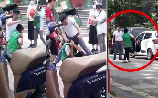 Sau va chạm, tài xế ô tô đấm đá túi bụi nhân viên giao hàng ở Hà Nội - 1