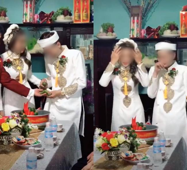 Quá mừng vì lấy được vợ, chú rể vén áo làm một hành động khiến tất cả mọi người phải ồ lên trong lễ ăn hỏi, cô dâu cũng cười đến mức phải quay lưng đi - Ảnh 2.