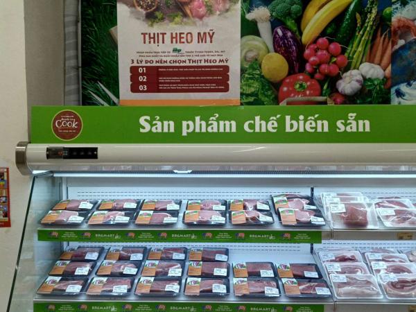 Sản phẩm thịt heo Mỹ hiện đang bày bán tại hệ thống BRGMart (2)