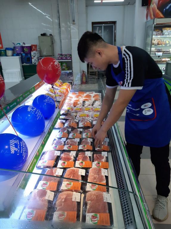 Sản phẩm thịt heo Mỹ hiện đang bày bán tại hệ thống BRGMart
