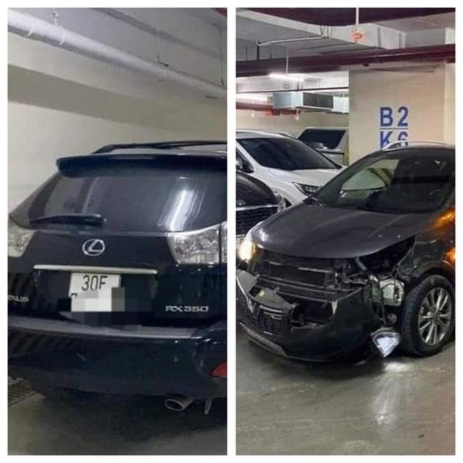 Công an xử lý vụ xe VinFast Fadil và Lexus rượt đuổi, húc, tông như trong phim trên phố HN - Ảnh 1.