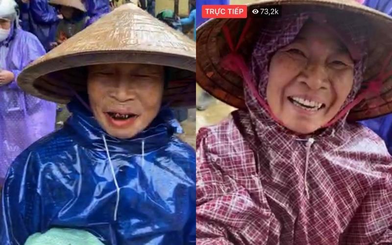 Vợ chồng Thủy Tiên phát tiền cho gần 1.000 hộ dân Quảng Bình, bà con cười hạnh phúc - Ảnh 1.