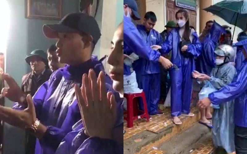 Vợ chồng Thủy Tiên phát tiền cho gần 1.000 hộ dân Quảng Bình, bà con cười hạnh phúc - Ảnh 3.