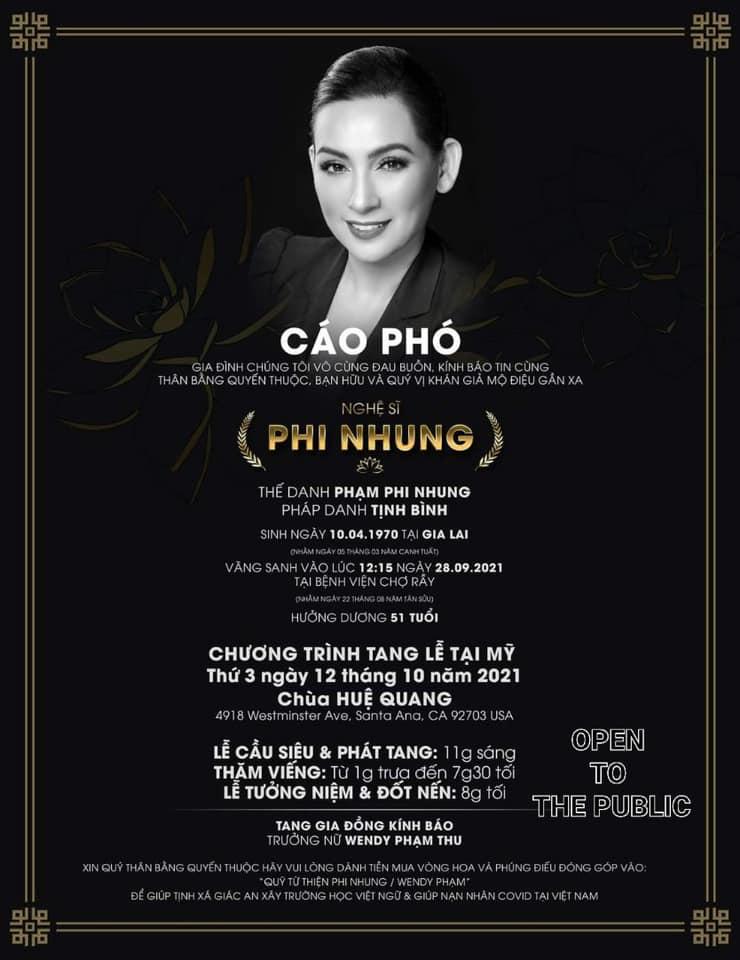Con gái ruột Phi Nhung có thông báo mới về việc tổ chức tang lễ cho cố ca sĩ - Ảnh 3.
