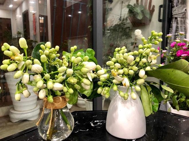 Đón rằm tháng Giêng, người Hà Nội lại tấp nập mua hoa bưởi - Ảnh 2.