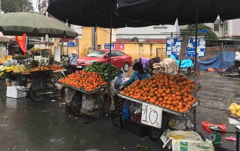 Trái cây dội chợ giá rẻ hơn rau, bán cả chục tấn/ngày - Ảnh 1.