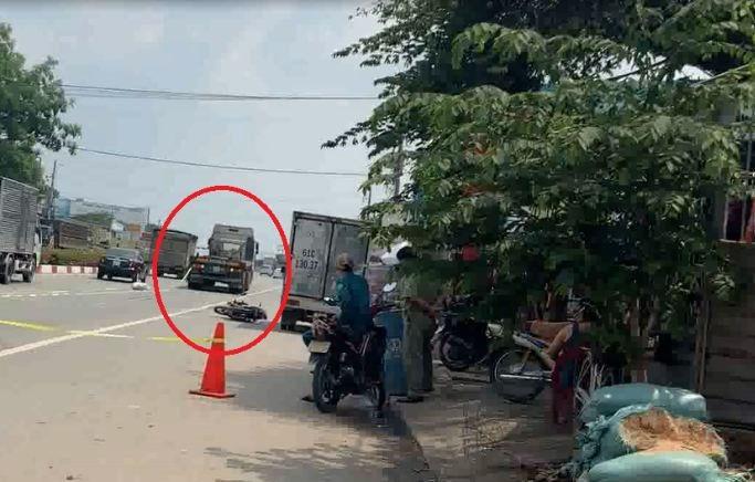 Người phụ nữ đi xe máy bị xe container tông tử vong  - Ảnh 2.