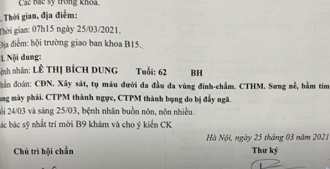 Vụ bà Lê Thị Bích Dung bị hành hung: Đề nghị khởi tố vụ án cố ý gây thương tích! - Ảnh 3.