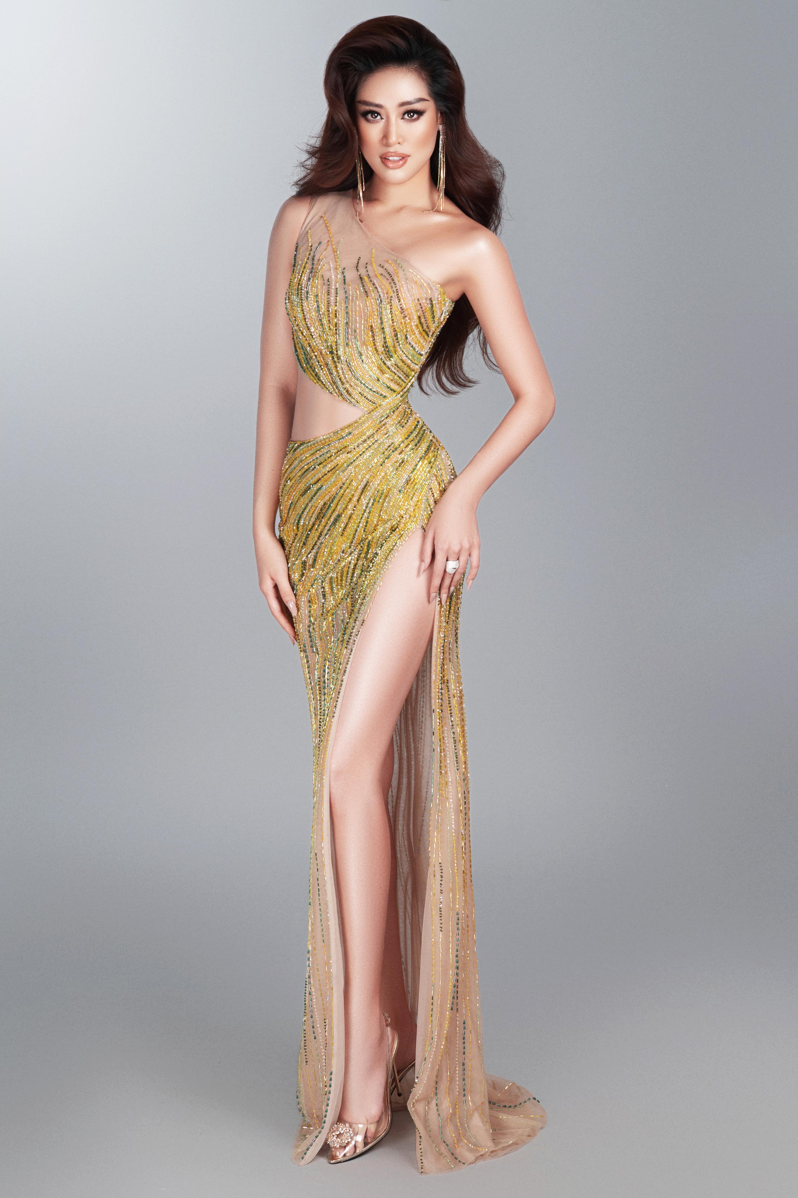 Khánh Vân hé lộ trang phục dạ hội nóng bỏng trước thềm bán kết Miss Universe 2020 - Ảnh 2.