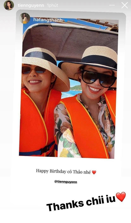 Tăng Thanh Hà chúc mừng sinh nhật em chồng Tiên Nguyễn mà nhìn ảnh lại ngỡ ngàng vì giống nhau như chị em ruột - Ảnh 2.
