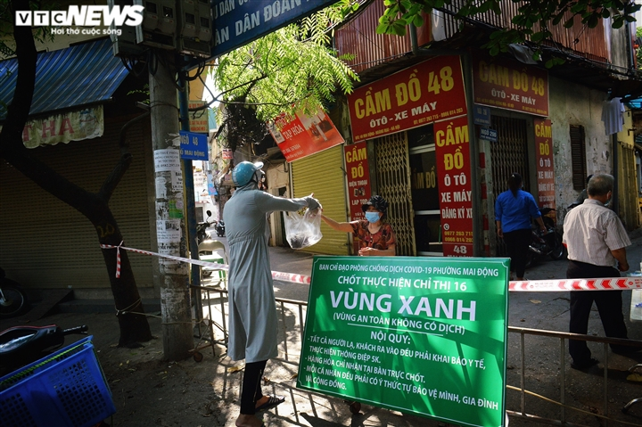 Ảnh: 50 chốt 'vùng xanh' phòng chống COVID-19 đầu tiên tại Hà Nội - Ảnh 8.
