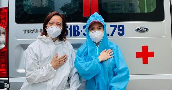 Việt Hương: Chân chồng tôi sưng quá, mưng mủ nhiễm trùng, đi không nổi nên nằm một chỗ rồi - Ảnh 1.