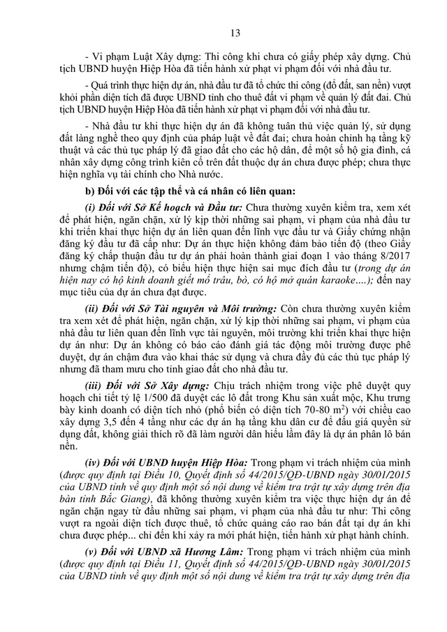 Sau Kết luận thanh tra về dự án làng nghề Mai Hương: Chi cục trưởng Chi cục Quản lý đất đai sẽ phải chịu trách nhiệm gì? - Ảnh 3.