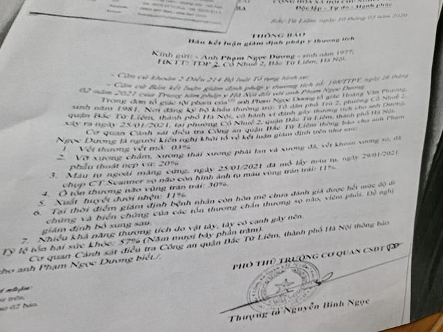 Hà Nội: Vì sao chưa khởi tố vụ đánh người gây thương tích 57% tại quận Bắc Từ Liêm? - Ảnh 2.