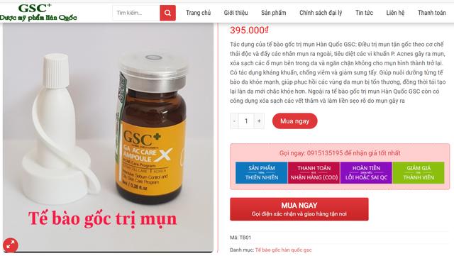 """Mỹ phẩm nhãn hiệu GSC """"thổi phồng"""" công dụng sản phẩm thành thuốc chữa bệnh - Ảnh 4."""