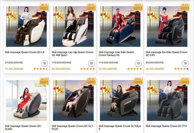 Thực hư về ghế massage Nhật Bản Queen Crown giảm giá đến hơn 60% - Ảnh 2.