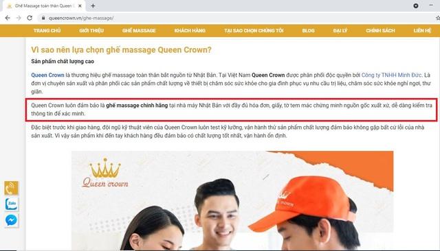Thực hư về ghế massage Nhật Bản Queen Crown giảm giá đến hơn 60% - Ảnh 1.