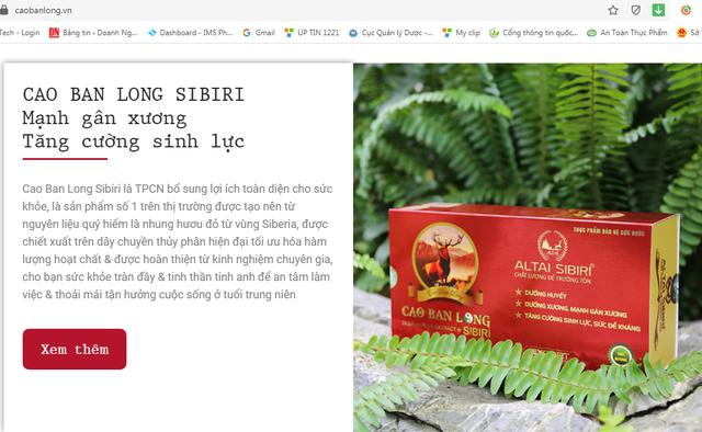 """Cao ban long Sibiri có thực sự """"thần kỳ"""" như quảng cáo? - Ảnh 1."""