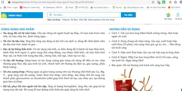 """Cao ban long Sibiri có thực sự """"thần kỳ"""" như quảng cáo? - Ảnh 2."""