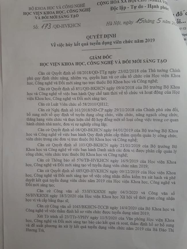 Bị hủy kết quả trúng tuyển viên chức vì khai không chính xác trong hồ sơ dự tuyển  - Ảnh 4.