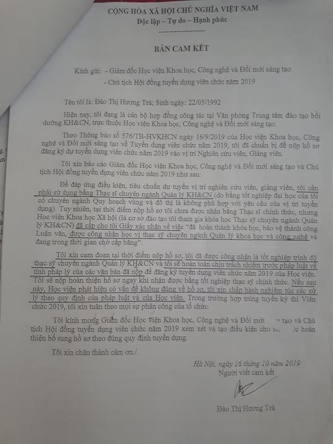 Bị hủy kết quả trúng tuyển viên chức vì khai không chính xác trong hồ sơ dự tuyển  - Ảnh 1.