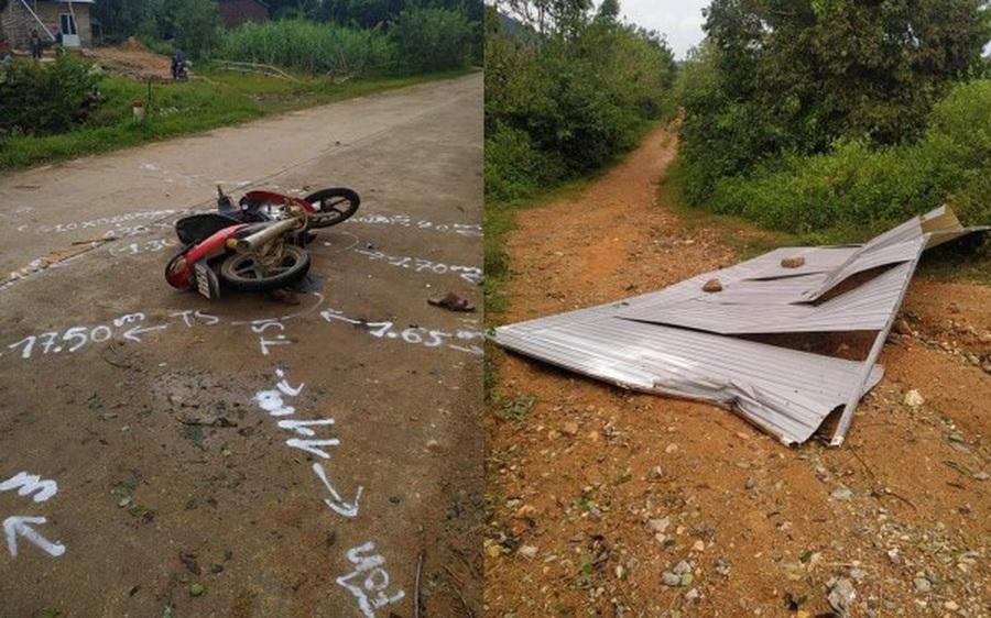 Gió mạnh hất tấm tôn bay trúng người đàn ông đi xe máy tử vong thương tâm