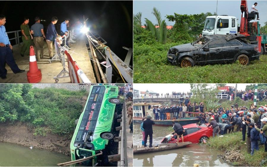 Đau lòng những vụ ô tô lao xuống sông gây thương vong