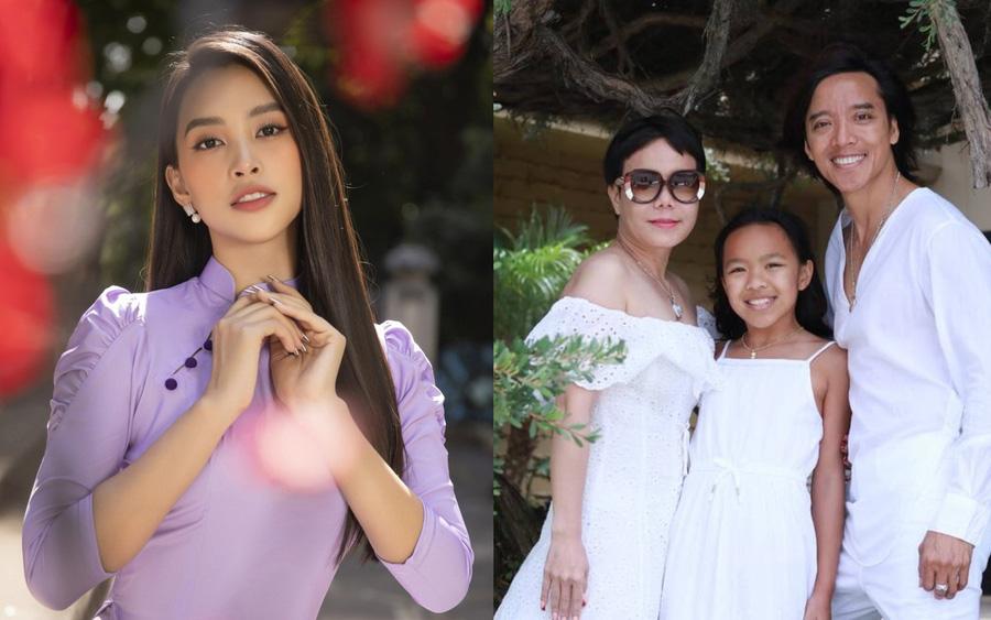 Tiểu Vy đẹp tinh khôi với áo dài, Việt Hương đăng ảnh gia đình hạnh phúc