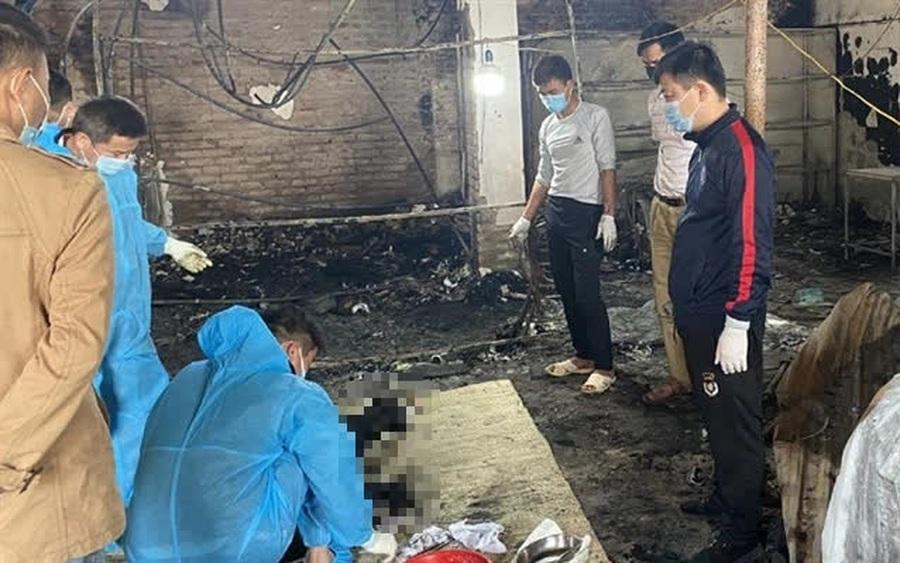 Cháy nhà ở Bắc Giang, phát hiện một thi thể biến dạng chưa rõ danh tính