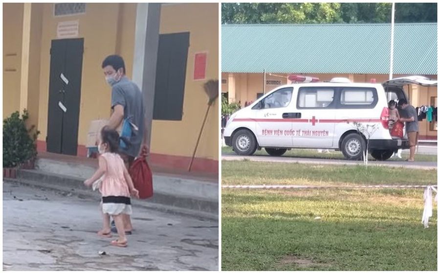 Bé gái 2 tuổi dương tính với SARS-CoV-2: Bước lên xe cứu thương liền khóc nức nở khi thấy bố ở lại