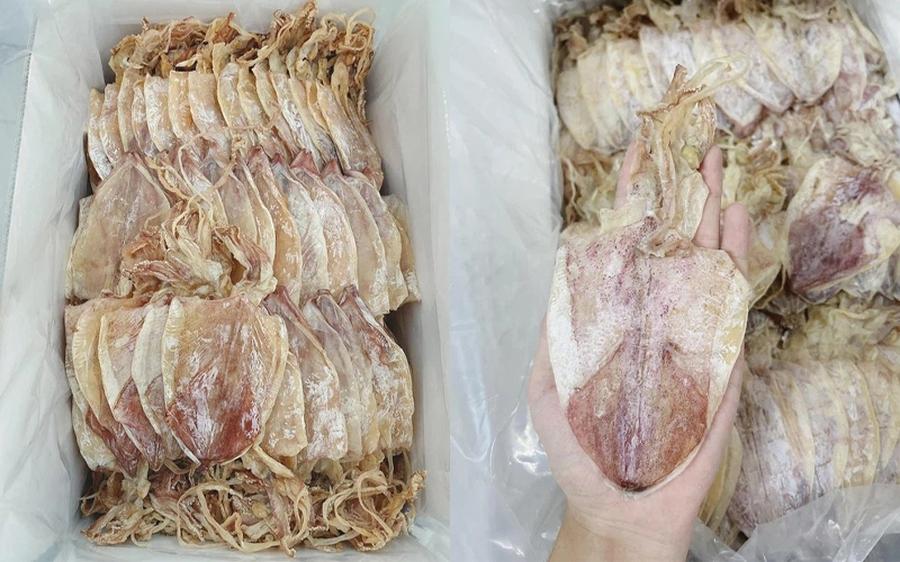 """Mực khô bán giá """"rẻ giật mình"""" trên chợ mạng, chỉ 200.000 đồng/kg loại mực to bằng cả bàn tay"""