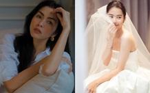 Hà Tăng đẹp mặn mà ở tuổi 34, Nam Em tung bộ ảnh diện váy cưới