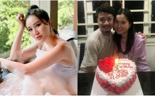 Bảo Thy tung loạt ảnh do chính tay ông xã chụp, Lâm Vỹ Dạ giản dị đón sinh nhật chồng