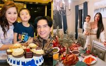 Phạm Hương đăng ảnh chụp cùng quý tử, Đan Trường đón tuổi 45 bên vợ con