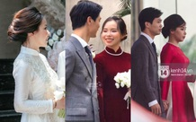 Vợ Công Phượng giản dị hết mức, lần cưới thứ 3 tại quê chồng vẫn chọn tóc búi đơn giản và áo dài đơn sắc