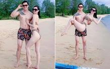 Khánh My diện bikini nóng bỏng, khoe vẻ tình tứ bên bạn trai kém 3 tuổi