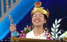 Nhà vô địch nữ sau 9 năm của Đường lên đỉnh Olympia: Đội vòng nguyệt quế bằng vàng nguyên chất, nhận phần thưởng 40 nghìn USD