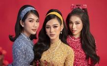Hoa hậu Đỗ Thị Hà khoe thần thái sắc lạnh đầy khác lạ trong bộ ảnh áo dài cùng 2 Á hậu