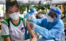 Ảnh: Ngày đầu tiên TP.HCM tiêm vaccine COVID-19 cho trẻ em