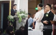 Thánh lễ hôn phối Phan Mạnh Quỳnh: Cô dâu xinh xỉu trong tà áo dài, chú rể chăm vợ từng li từng tí ở lễ đường hoành tráng