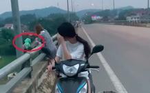 Hai cô gái trẻ thản nhiên đổ hết rác xuống sông, bức xúc hơn là thái độ khi được nhắc nhở