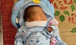 Bé trai sơ sinh bị bỏ rơi trước cổng nhà dân giữa đêm khuya