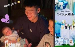 Quỳnh Anh hạnh phúc khoe ảnh Duy Mạnh ôm con, tên thật của em bé chính thức được công khai