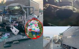 Ám ảnh hiện trường vụ xe tải tông xe đầu kéo, 2 vợ chồng tài xế thương vong