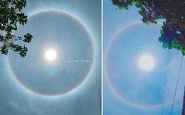 Bất ngờ xuất hiện vòng tròn sáng rực trên bầu trời Hạ Long khiến dân tình rần rần về hiện tượng kỳ lạ