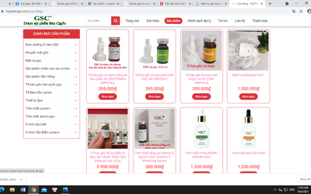 """Mỹ phẩm nhãn hiệu GSC """"thổi phồng"""" công dụng sản phẩm thành thuốc chữa bệnh"""