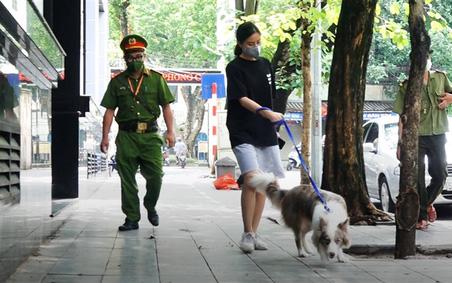 Dắt chó đi dạo khi Hà Hội đang giãn cách, cô gái bị phạt 2 triệu đồng