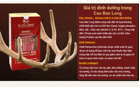 """Cao Ban Long Sibiri có thực sự """"thần kỳ"""" như quảng cáo?"""
